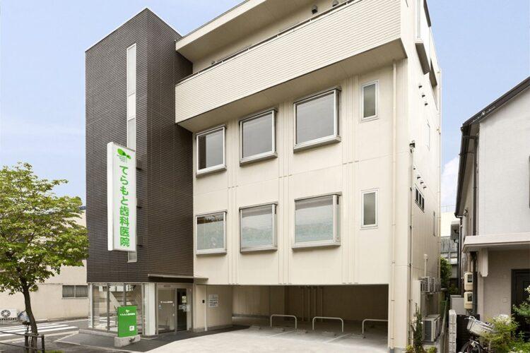 名古屋市東区の医療施設の鉄骨造4階建ての外観