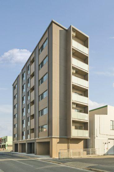 名古屋市中川区の7階建て賃貸マンション全体写真