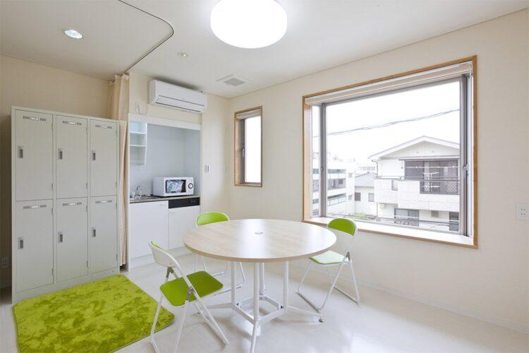 名古屋市東区の医療施設の3階 ロッカー付きスタッフルーム