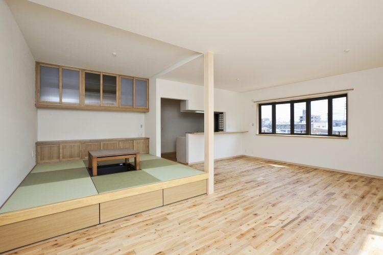 注文住宅施工例(名古屋市緑区) 畳コーナー・LDK