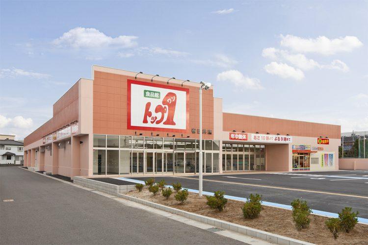 愛知県春日井市の店舗施工例(スーパーマーケット) 外観南西面