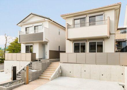 名古屋市名東区のデザインの違う2棟の戸建賃貸住宅