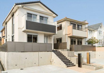 名古屋市名東区の戸建賃貸住宅のナチュラルテイストな外観デザイン