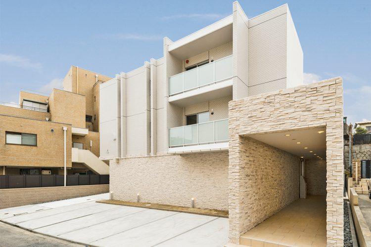 名古屋市千種区の特徴的な形の賃貸マンション外観デザイン