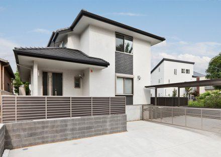 名古屋市名東区の注文住宅 外観デザイン