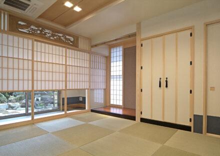 愛知県豊田市の注文住宅の床の間・欄間がある美しい和室