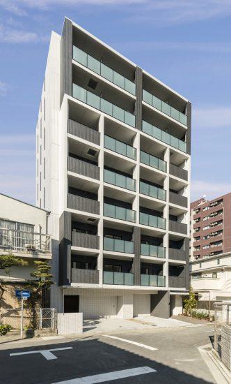 名古屋市中村区の賃貸マンションのモダンなデザインの賃貸マンション