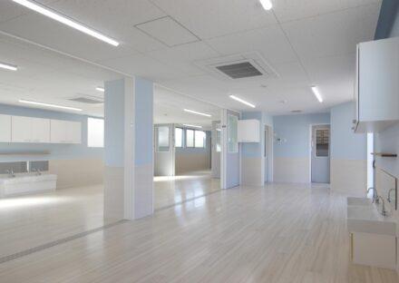 名古屋市天白区の保育施設のパステルカラーの保育室