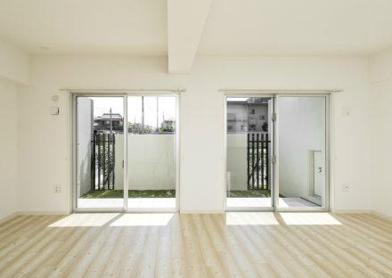 名古屋市名東区の賃貸マンションの緑が見える1階LDK