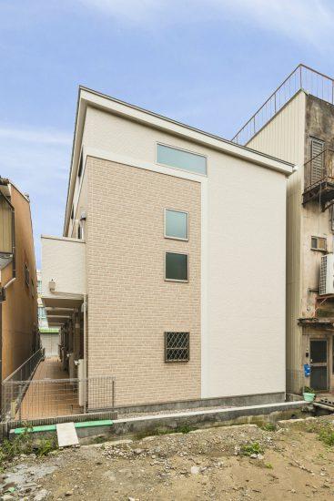 名古屋市緑区のロフト付き賃貸アパートの外観デザイン