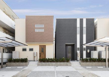 名古屋市天白区の戸建賃貸のC棟・D棟戸建住宅の建物正面デザイン