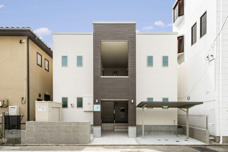 名古屋市南区の賃貸アパート2階建て外観正面