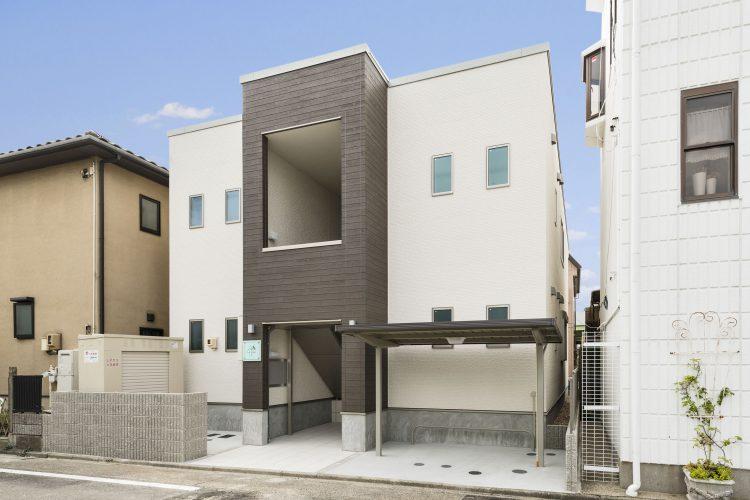 名古屋市南区の賃貸アパート2階建て外観北西面