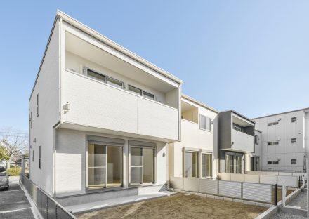 名古屋市天白区の戸建賃貸のスペースのある外観裏側