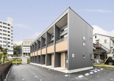 愛知県豊田市のモダンなデザインのメゾネット賃貸アパート外観
