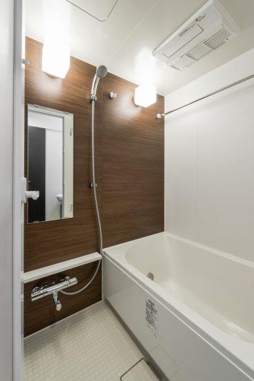 岐阜市の賃貸マンション施工例 バスルーム