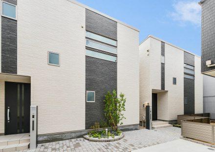 名古屋市瑞穂区の戸建賃貸住宅のレンガで囲まれた植栽のあるおしゃれな外観