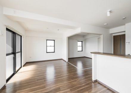 名古屋市天白区の賃貸マンションの合わせて使えるLDK&洋室
