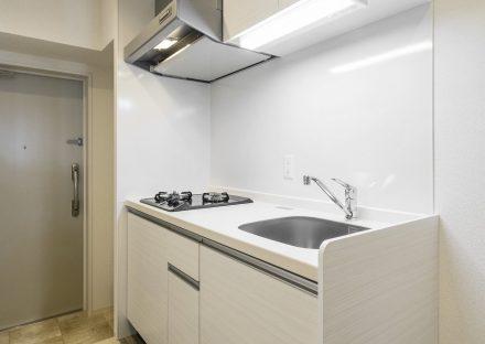名古屋市西区の賃貸マンションの1Kタイプの玄関とキッチン