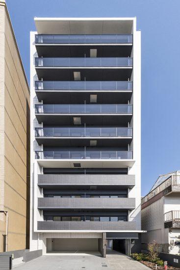 名古屋市西区のモダンな外観デザインの賃貸マンション
