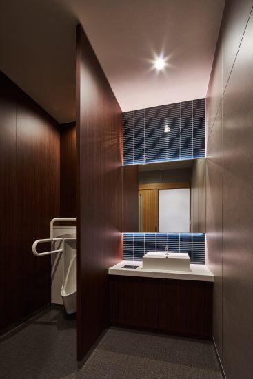 名古屋市南区の商業施設:葬儀場のモダンなお手洗い