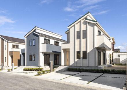 3つの異なる外観デザインの戸建賃貸住宅