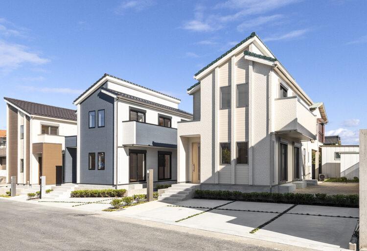 戸建賃貸住宅の外観デザイン写真