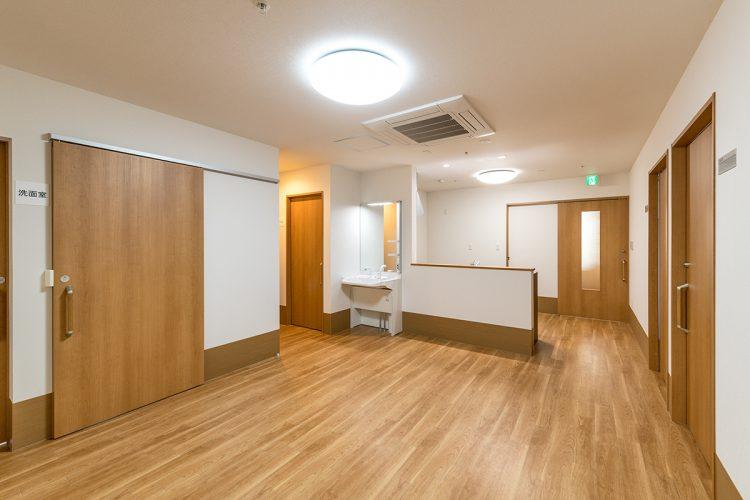 名古屋市北区の介護施設の手洗い場付きの食堂