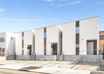 名古屋市天白区の戸建賃貸住宅3棟の外観デザイン写真