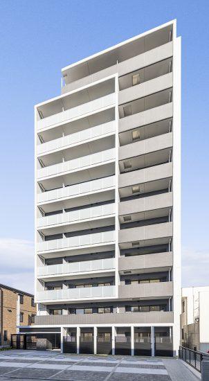 名古屋市西区の11階建て賃貸マンションの外観