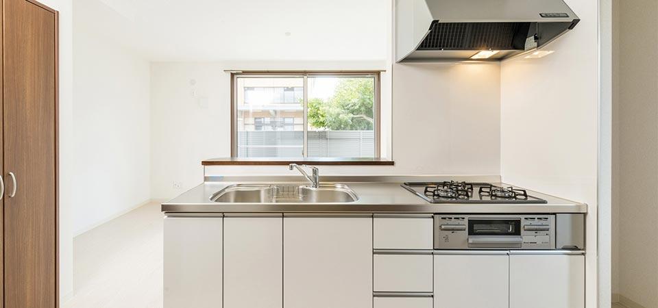 賃貸アパートのキッチン 新築写真