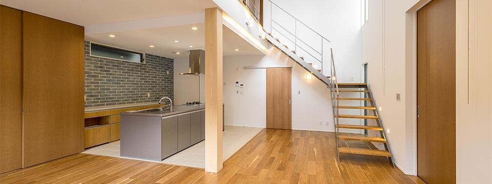 注文住宅のLDK 新築写真