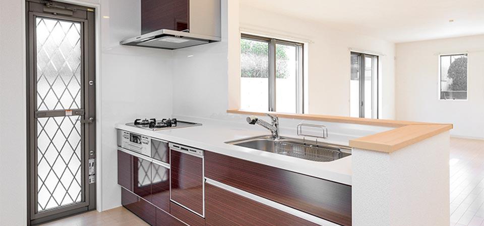 戸建賃貸住宅のキッチン 新築写真