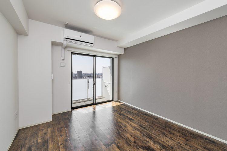 名古屋市中川区のエアコン付きベランダのある洋室の新築写真