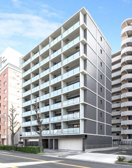 名古屋市中村区のモダンな外観デザインの9階建賃貸マンション