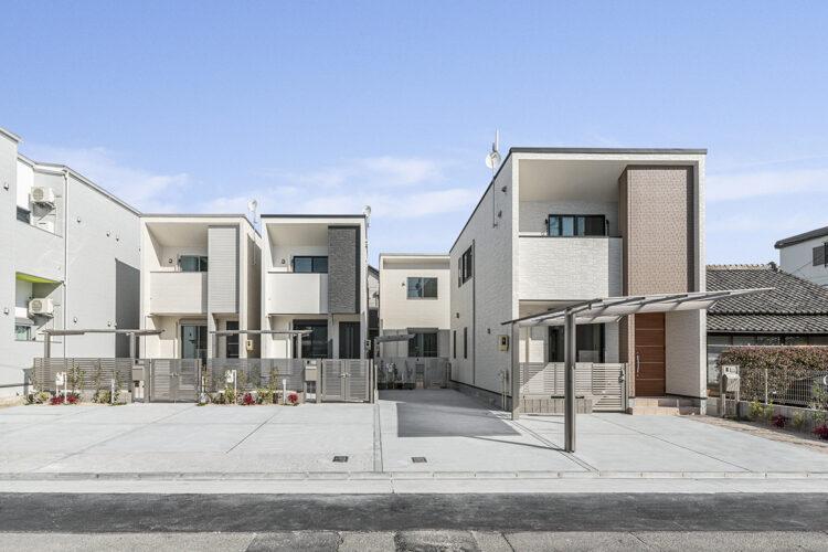 名古屋市西区の駐車場付きモダンなデザインの戸建賃貸住宅4棟