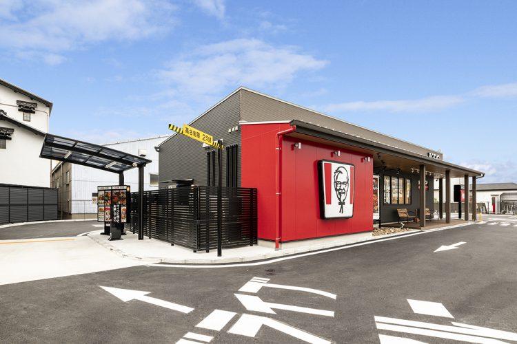 愛知県西春日井郡豊山町のドライブスルー付きファストフード店 ドライブスルー注文コーナー
