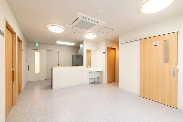 名古屋市西区の障害者グループホームの手洗い場付きの食堂