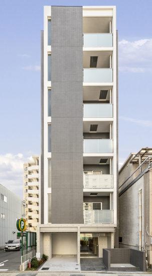 名古屋市東区の1K7階建ての賃貸マンション外観