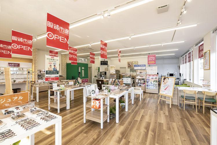 愛知県春日井市の店舗の商品が陳列された店内