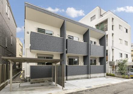 名古屋市名東区の駐輪場&駐車場付きワンルームアパート外観
