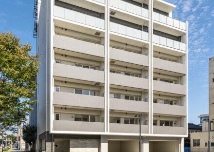 名古屋市瑞穂区のナチュラルカラーの外観デザイン7階建て賃貸マンション